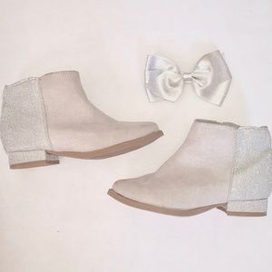 old navy grey/silver booties